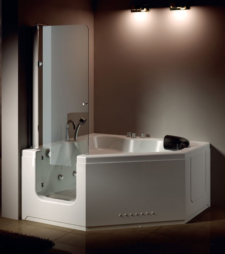 Hs B013a Walk In Tub Shower Combo Corner Tub Shower Combo Bath