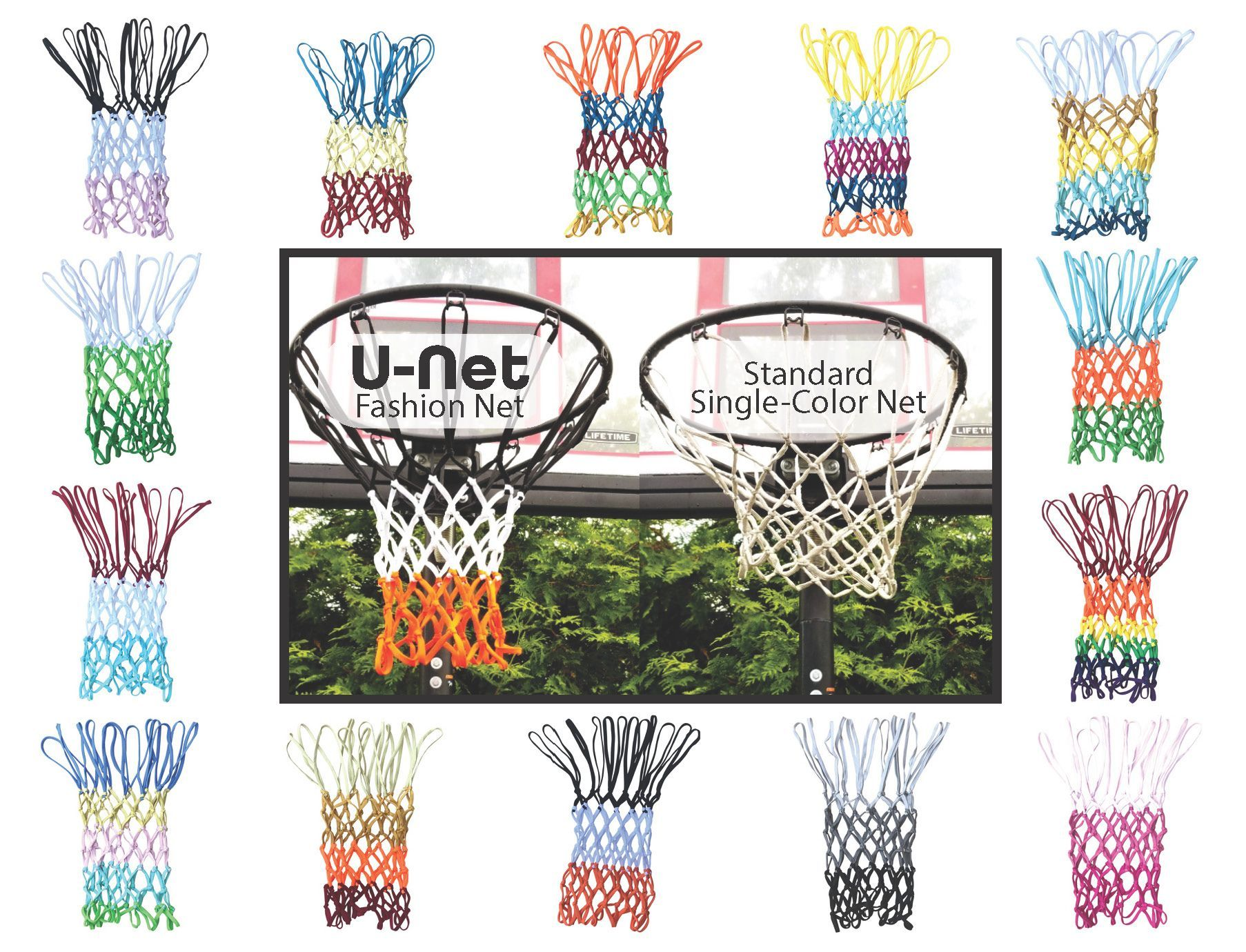 multi color basketball nets great idea for anyone with a basketball