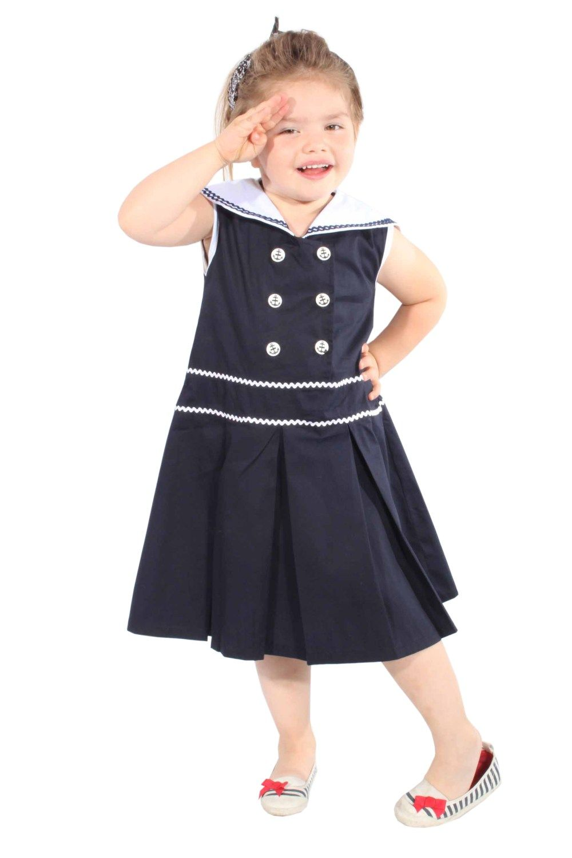Kids Sailor Matrosen 50er rockabilly Seemannskragen Kinder Mädchen ...