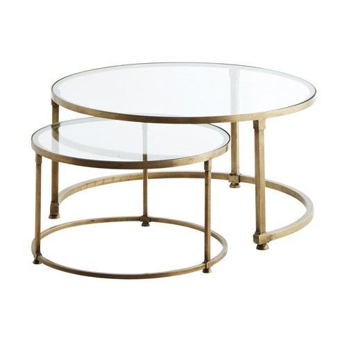Lovely Image Result For Hammered Metal Coffee Table. Round Glass ...