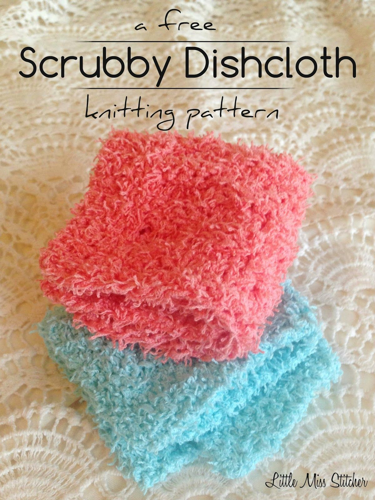Little Miss Stitcher: Scrubby Dishcloth Pattern | tricot, crochet et ...
