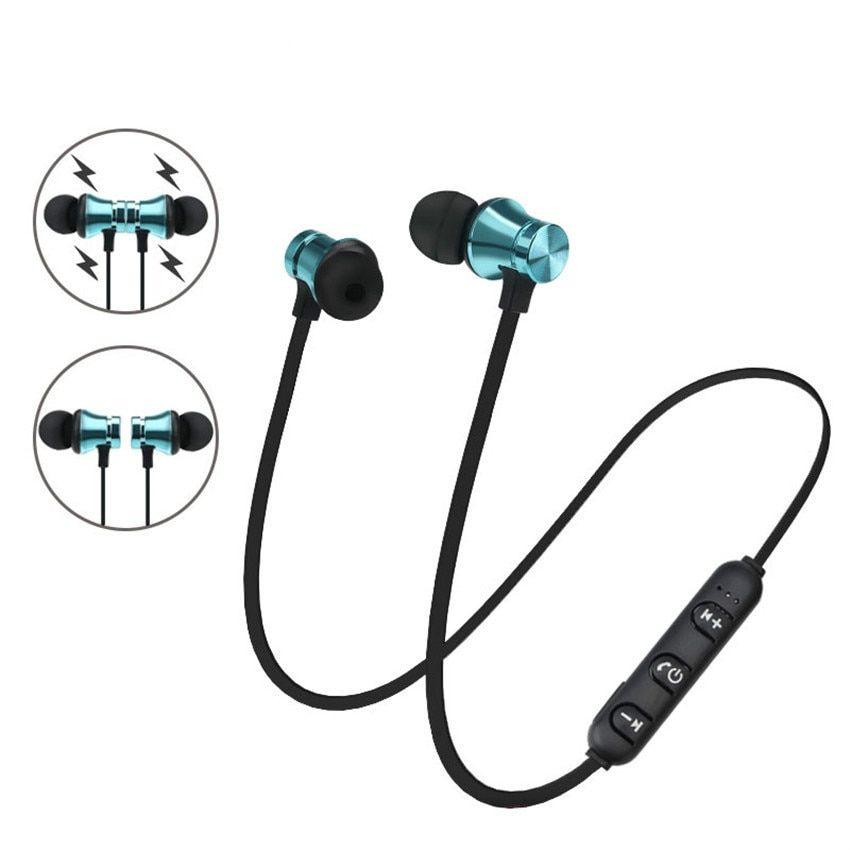 f88f0de2be9 Wireless Bluetooth Earphone Magnetic Metal Headphones Sports Stereo  Headphones for Xiaomi iPhone 6s/7 Plus Auriculares Bluetooth-in Bluetooth  Earphones ...