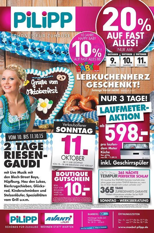 Superb VERKAUFSOFFENER SONNTAG bei Ihrem Eintrichtungscenter Pilipp in BINDLACH bei Bayreuth Aktionen und Gewinnspiele Pinterest