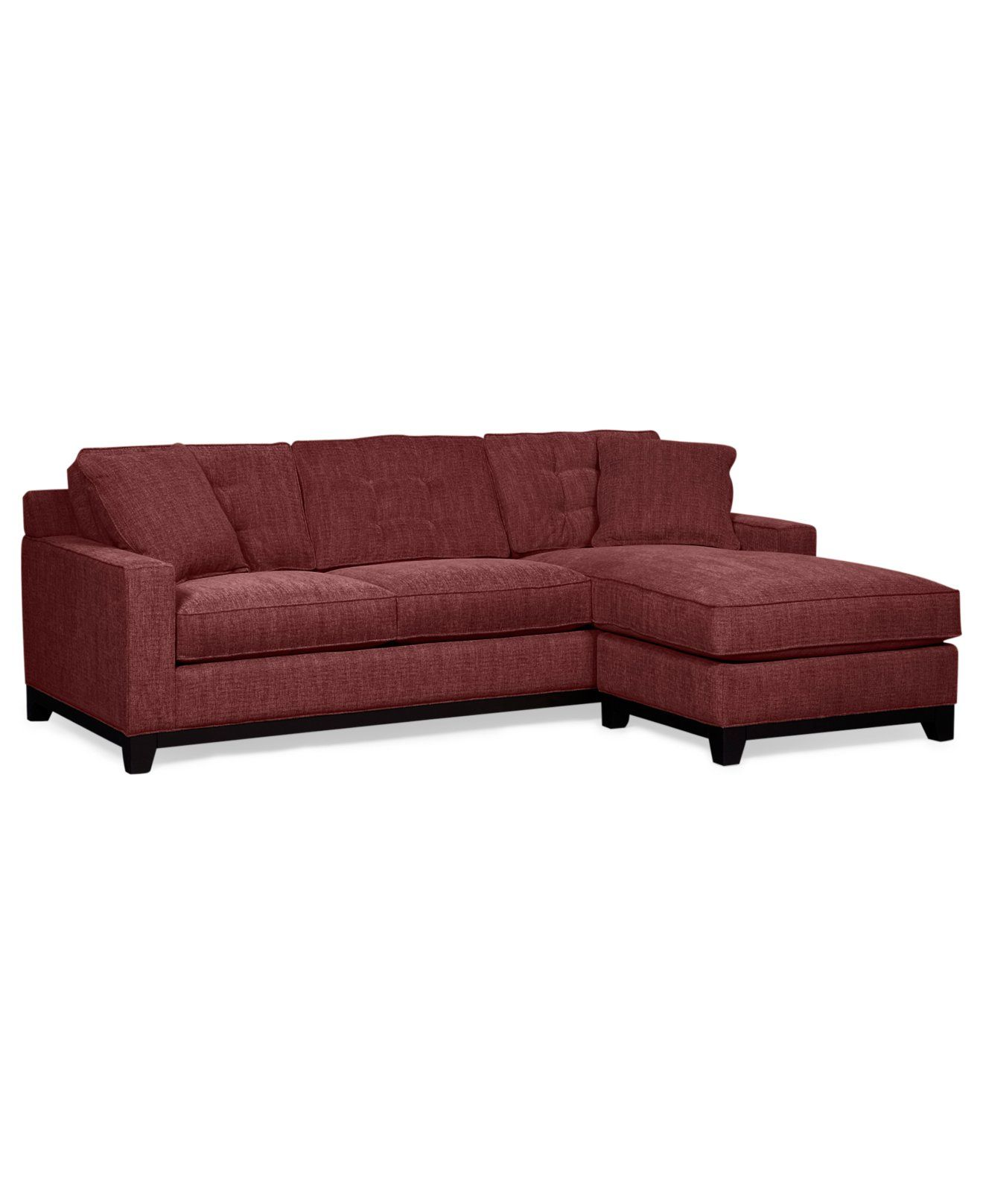 Clarke Fabric Sectional Queen Sleeper Sofa Chaise X Custom Colors Sofas Furniture Macy S