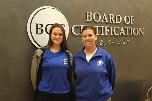 We were happy yesterday to meet the Athletic Trainers from Creighton University who stopped by our office yesterday. Pictured are Deb Belik on the right and Martha Miller on the left. They will be working at some of the CWS games coming up. Thanks for stopping by!