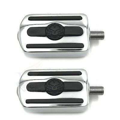 PAIR of CHROME MOTORCYCLE SPIKE TOE HEEL SHIFTER PEG FOR HARLEY