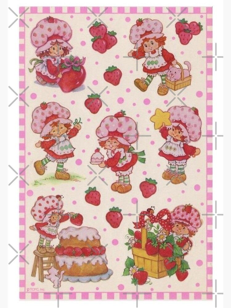 Vintage Strawberry Shortcake Poster by Cowgirl's Stickers