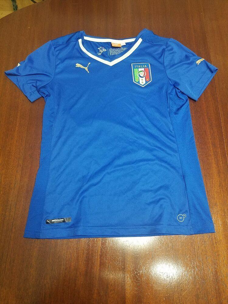 7eaa675e0 Womens Italia Italy Puma Soccer Football Futbol Jersey Shirt XS https   t.