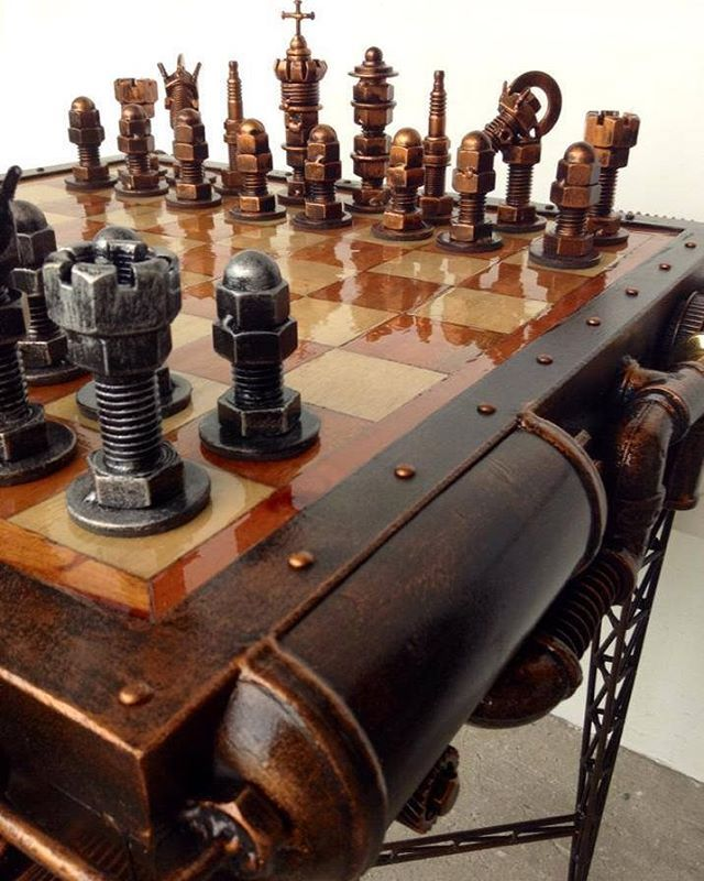 Steampunk Chess Set by Ram Mallari Jr