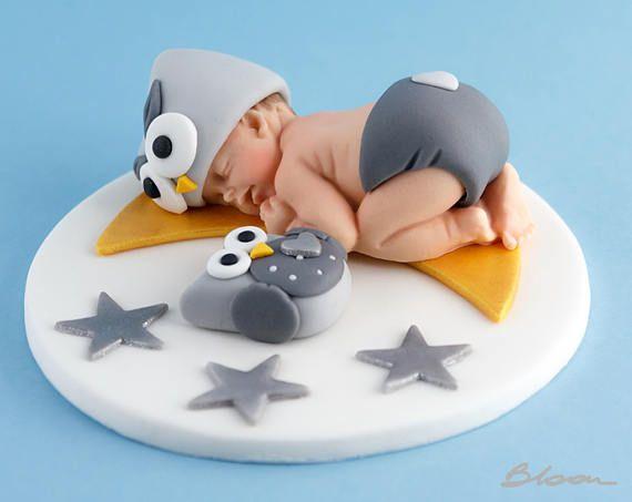 Baby Owl Fondant Owl Baby Shower Fondant Owl Baby Cake