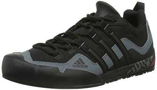 Adidas performance terrex swift solo uomini scarpe nere all'aperto.