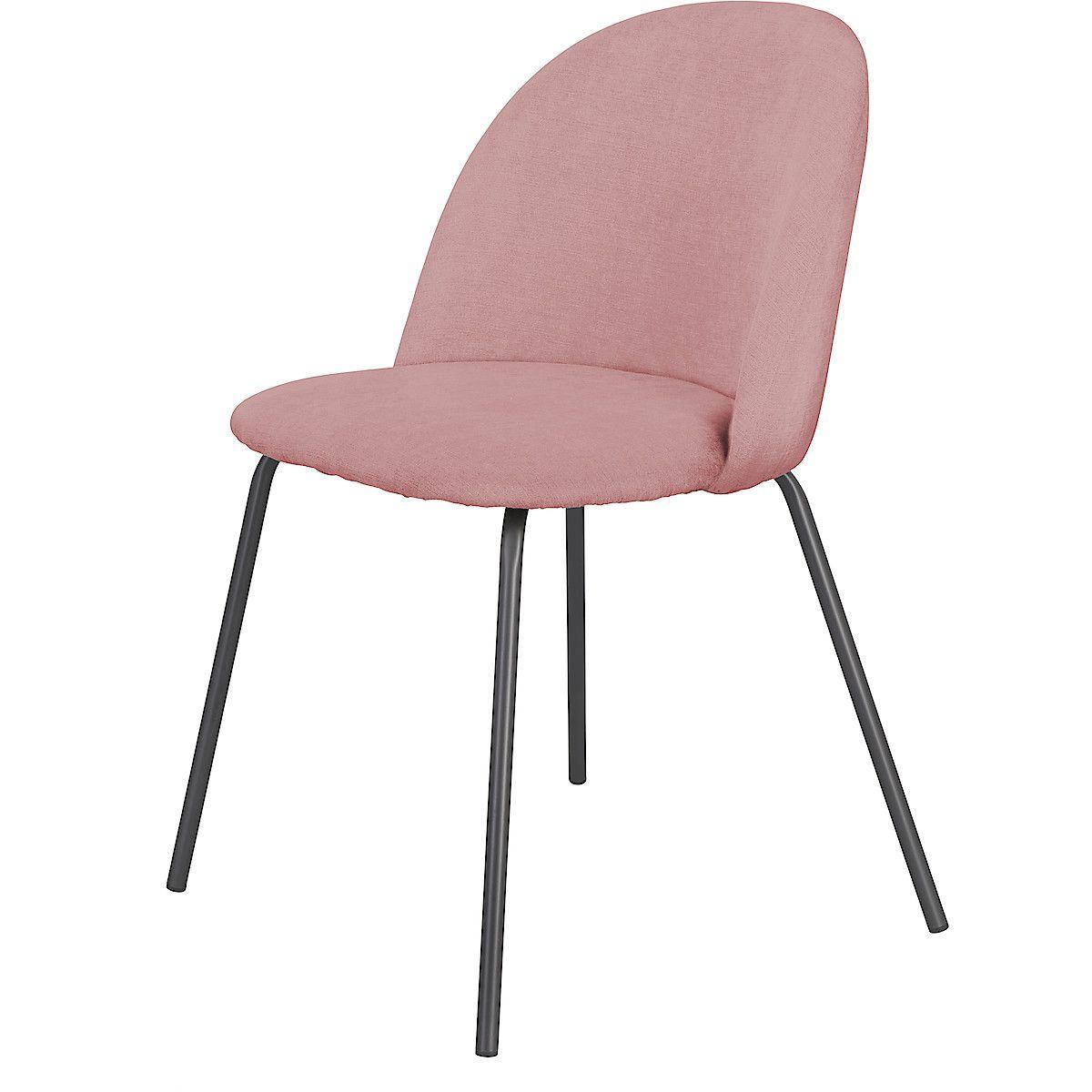 Vadderad stol med stålben | Clas Ohlson | Stolar