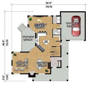 Eye-Catching Southern House Plan - 80841PM floor plan - Main Level