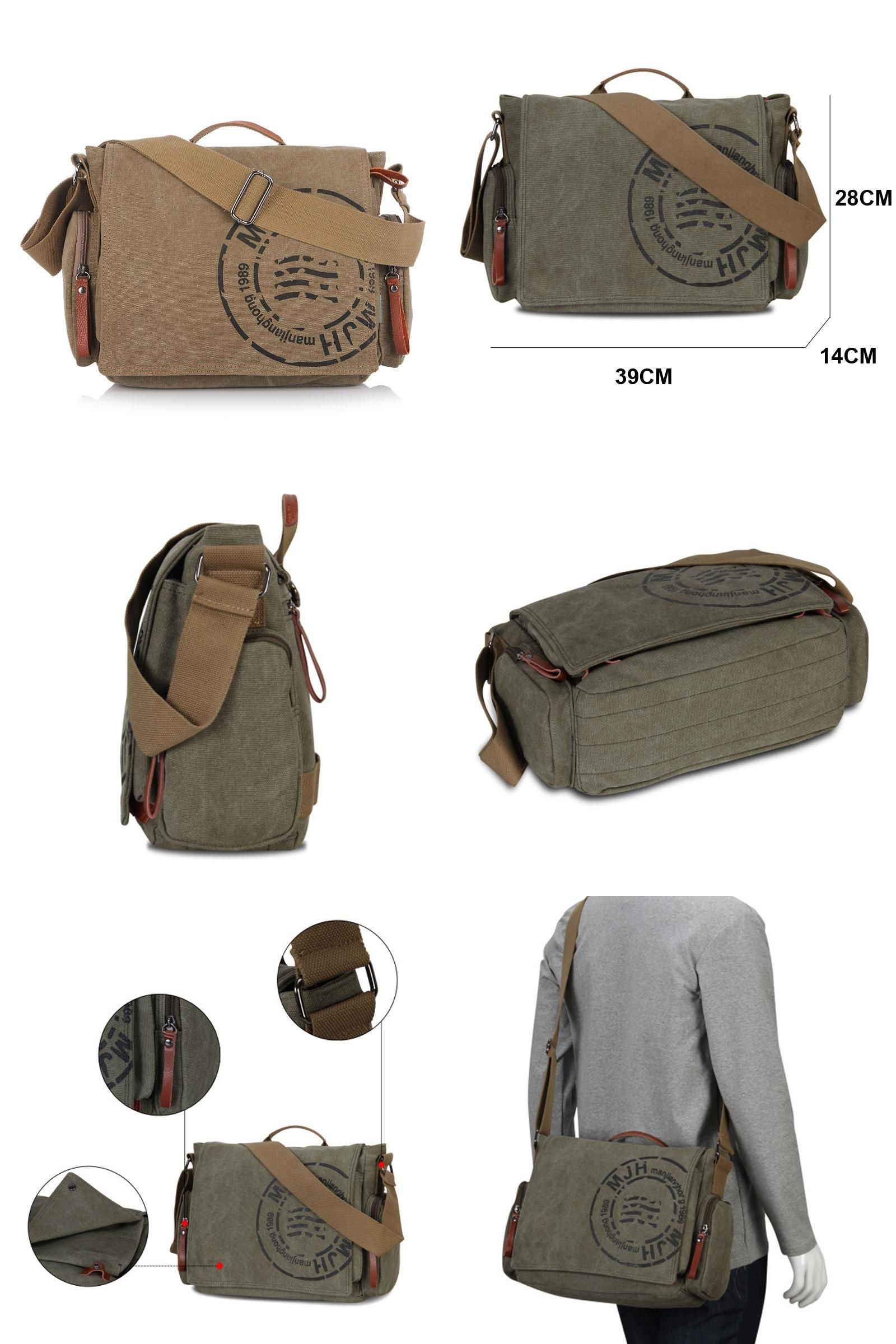 c5b47f214643 ... handbag buckle Suppliers  MANJIANGHONG Vintage Men s Messenger Bags  Canvas Shoulder Bag Fashion Men Business Crossbody Bag Printing Travel  Handbag 1124