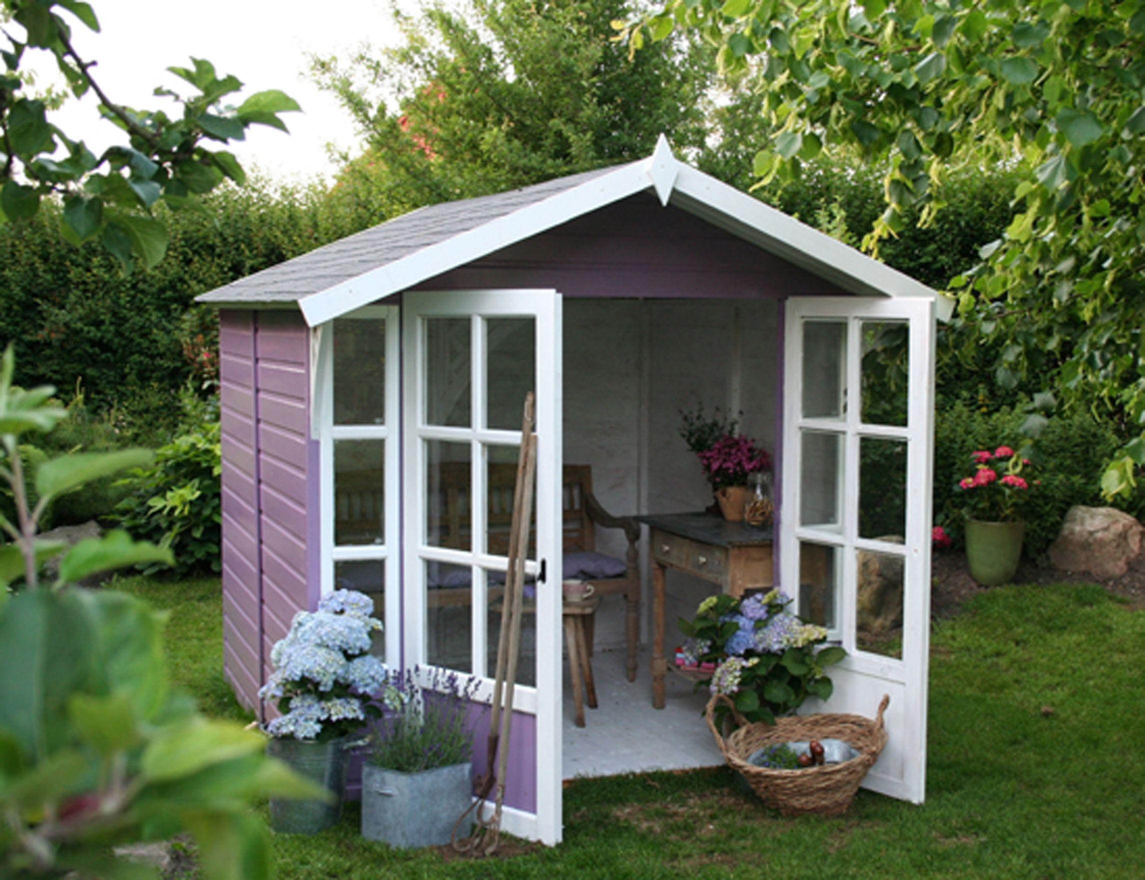 Gartenhaus Modell Clara Mit Offener Tur Haus Gartenhaus Garten