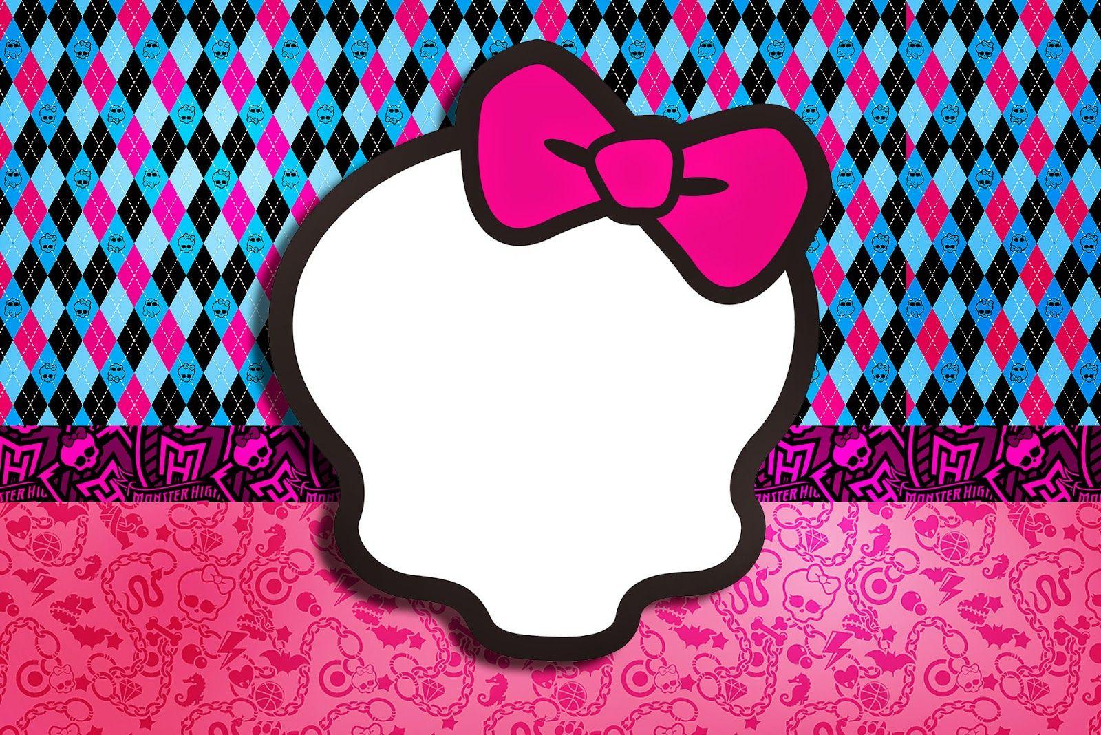 Pink Monster High: Free Printable Invitations. | Monster high ...
