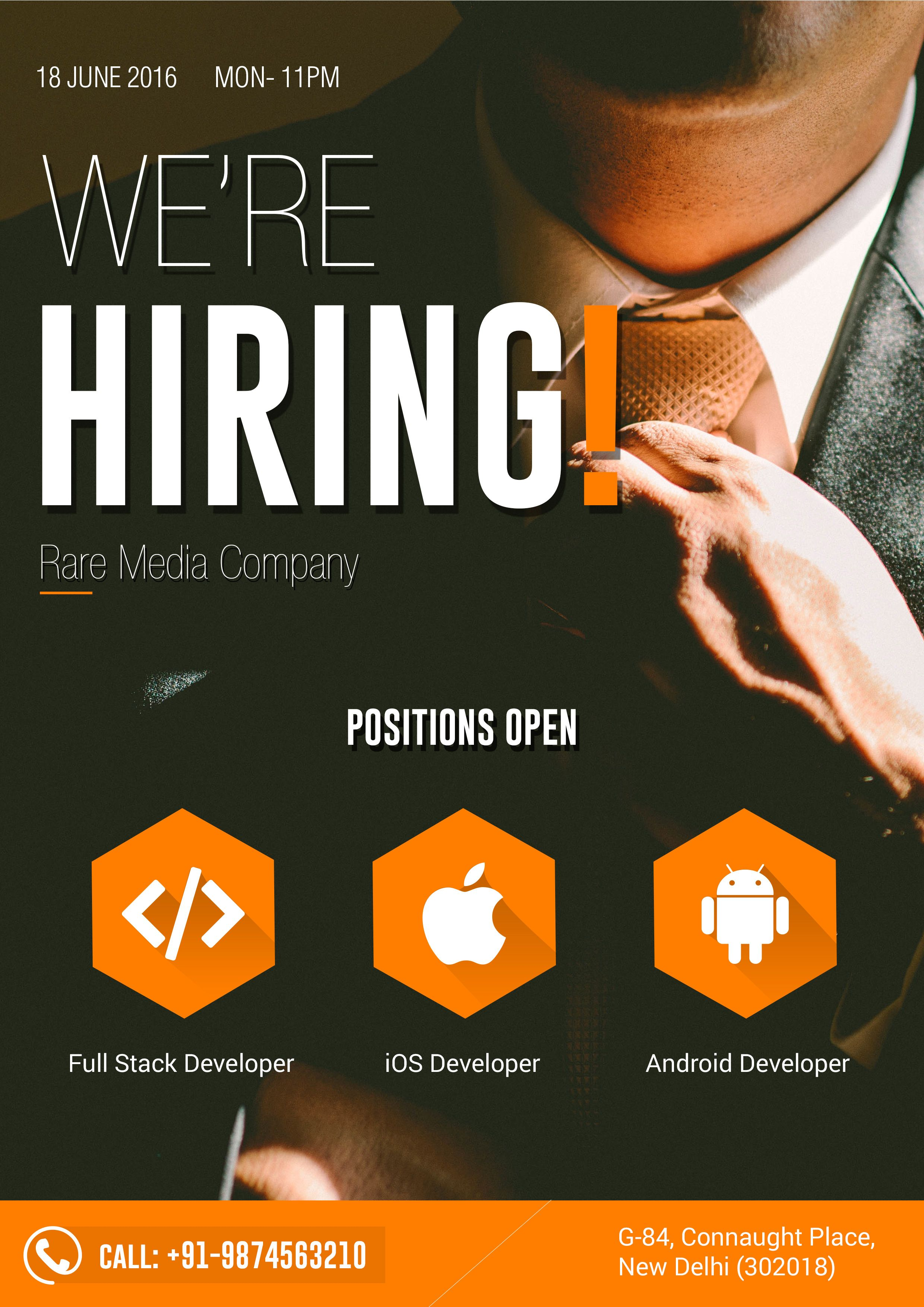 Flyer Design for Hiring ... | Graphic Design | Pinterest | Hiring ...