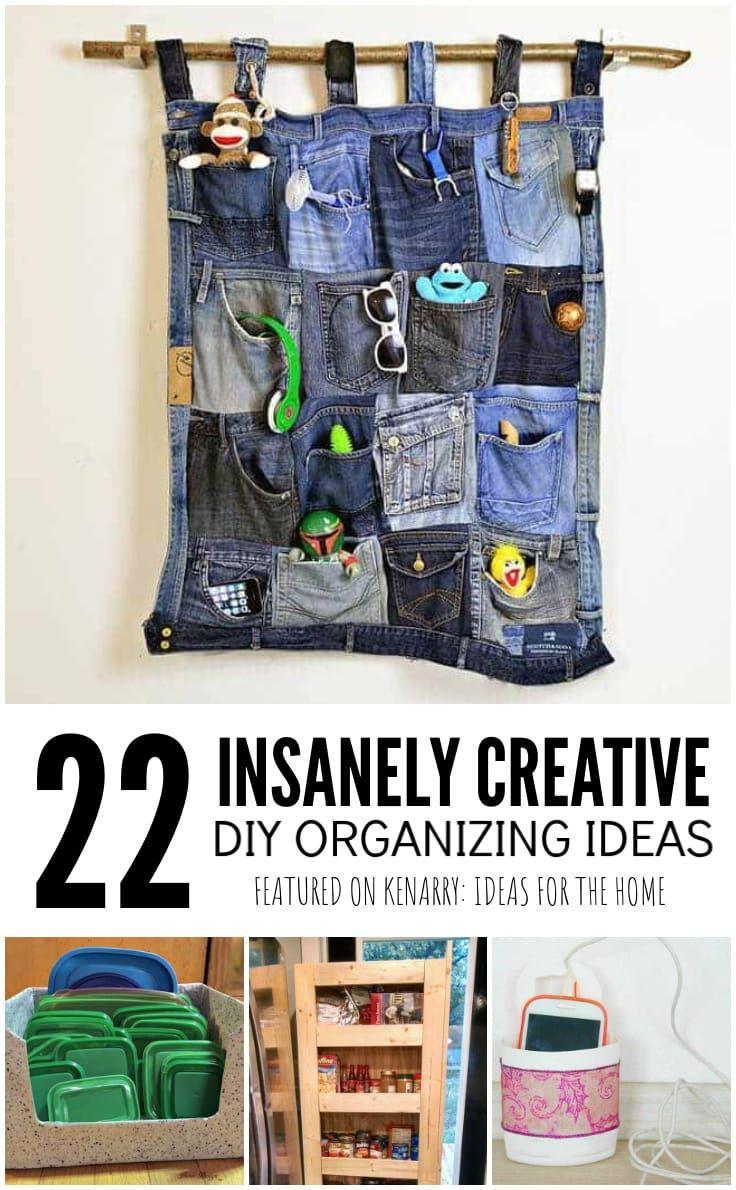 22 Insanely Creative DIY Home Organization Hacks Kenarry