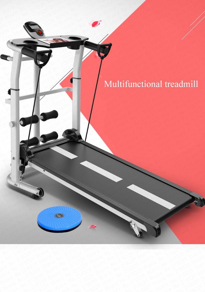 3in1 Folding Mechanical Treadmill Walking Running Machine Incline ...