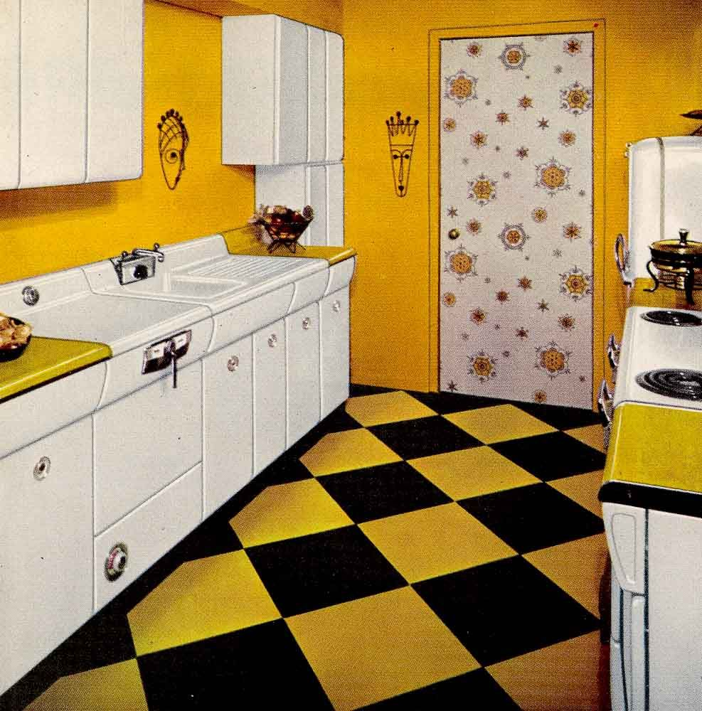 American Kitchen Cabinets Six kitchen designs from 1953   Avco American Kitchens