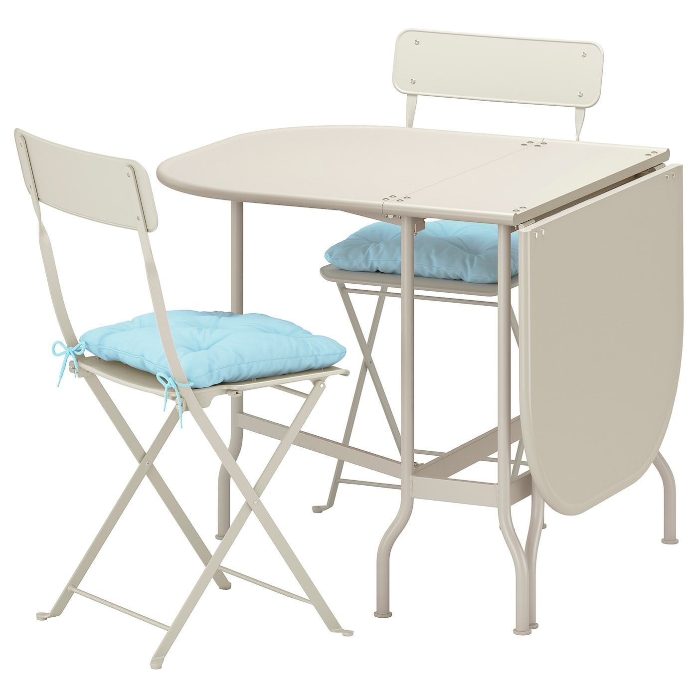 Tavolino Per Balcone Ikea ikea saltholmen beige, kuddarna blue light blue table and 2