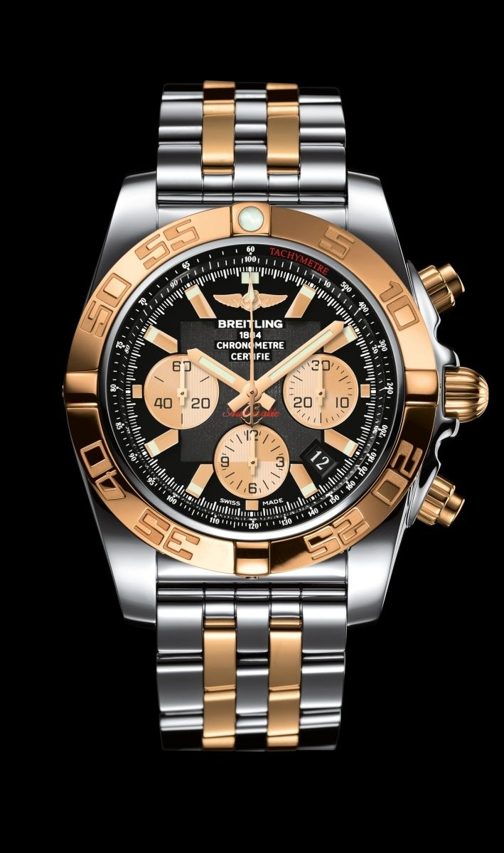 e9c5edb7fc6 Chronomat 44 diver s watch by Breitling - Steel and 18K rose gold case