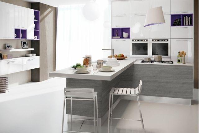 125 exemples de cuisines équipées ultra modernes \u2013 partie 2 Ilot - Modele De Cuisine Moderne Avec Ilot