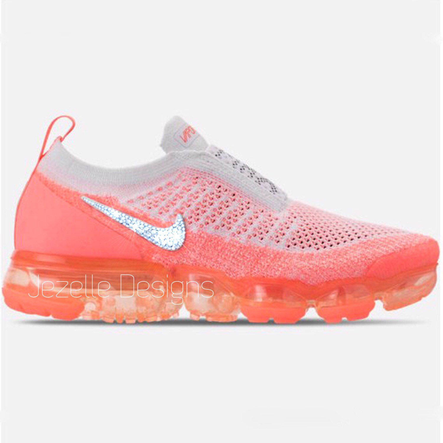 new style 349cf 3d096 Swarovski Nike Air VaporMax Flyknit MOC 2 Running Shoes Custom Hand Jeweled  w  Swarovski Crystals - Bling Nike Shoes - Glitter Kicks Nike in 2019    Sport ...