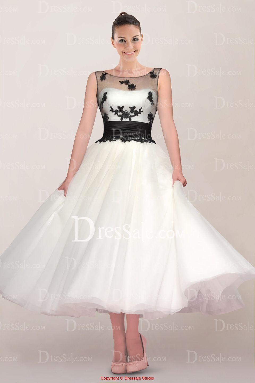 Princess Tea Length Wedding Dresses