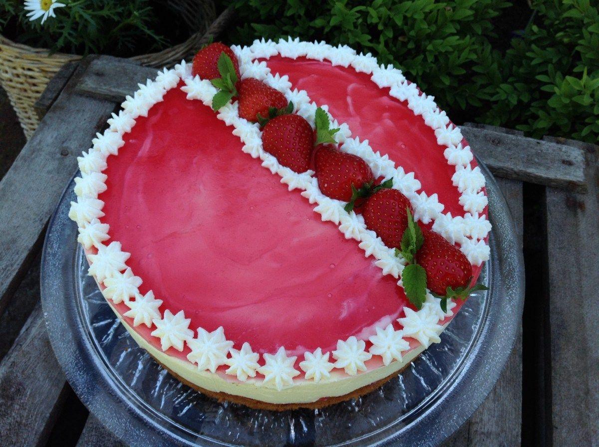 Erdbeer Zitronen Torte Dessert Ideen Erdbeerkuchen Lebensmittel Essen
