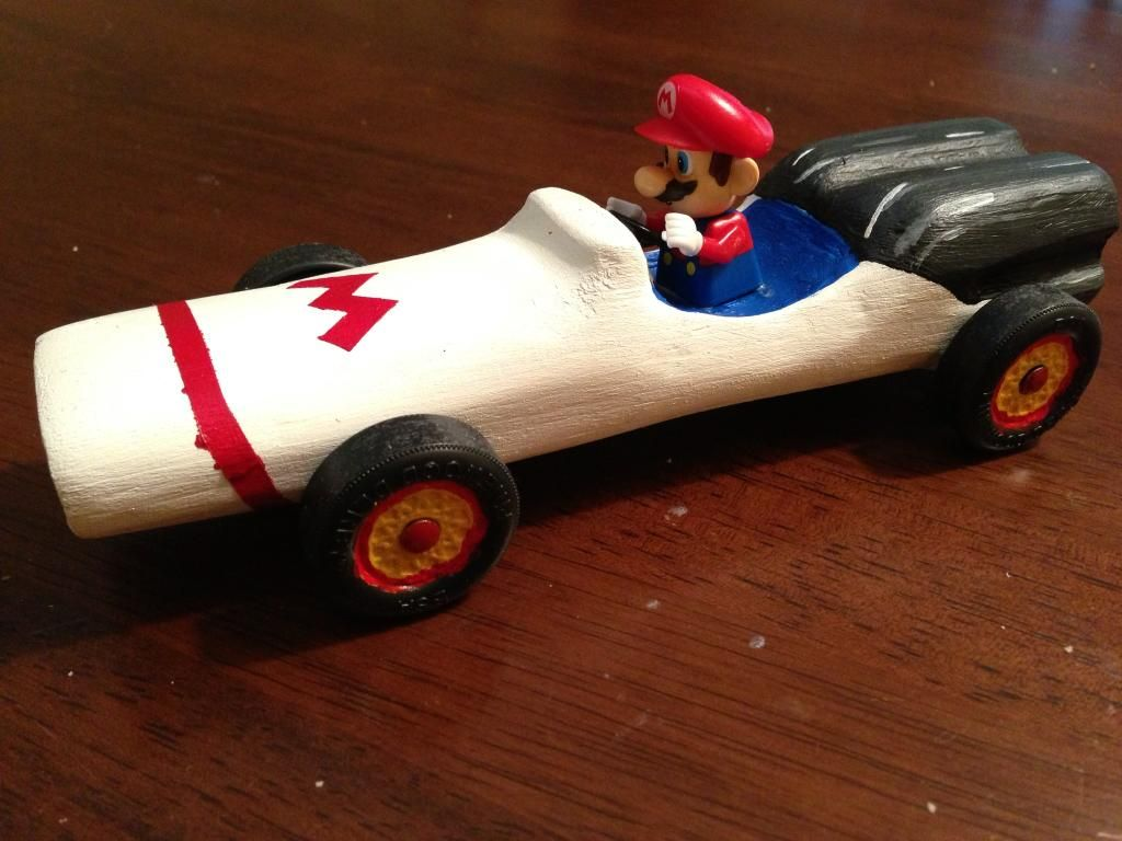 Cool shark co2 cars the image kid has it for Pinewood derby shark template