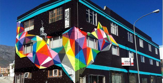 Famous Geometric Paintings   Colorful Geometric Street Art   Okuda