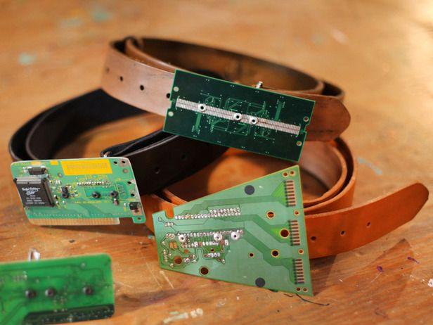 computer circuit board belt buckle handmade \u0026 diy handmade