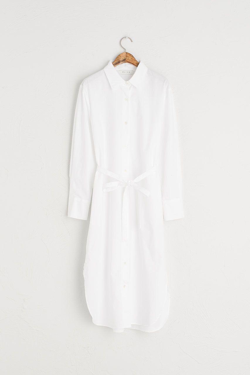 Belted shirt long dress ivory new clothes pinterest