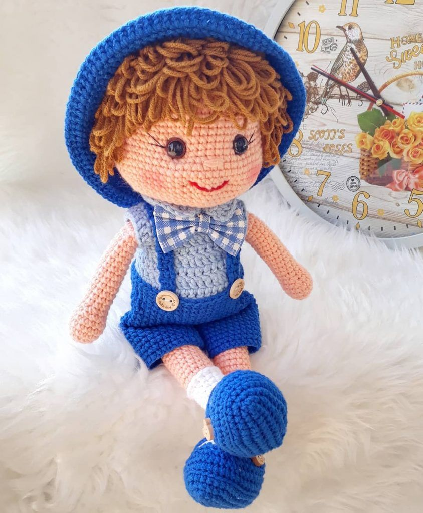 Amigurumi Baby Doll Crochet Free Pattern #crochetdoll