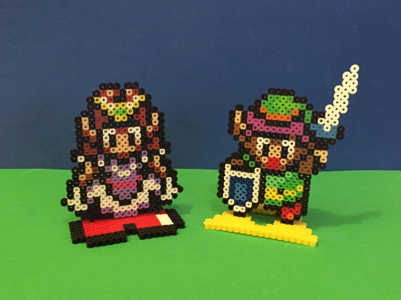 Zelda Link Sprites Super Nintendo A Link To The Past Etsy Bead Sprite Link Perler Beads Nerd Crafts