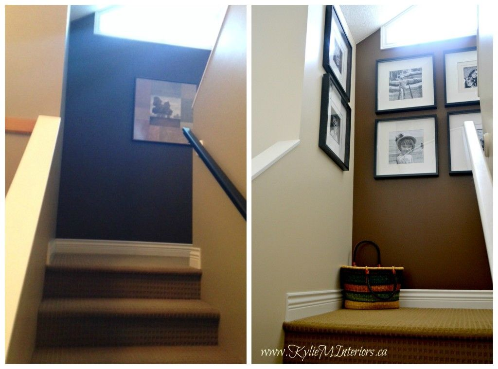 stair landing accent wall | ... accent wall with benjamin moore char ...
