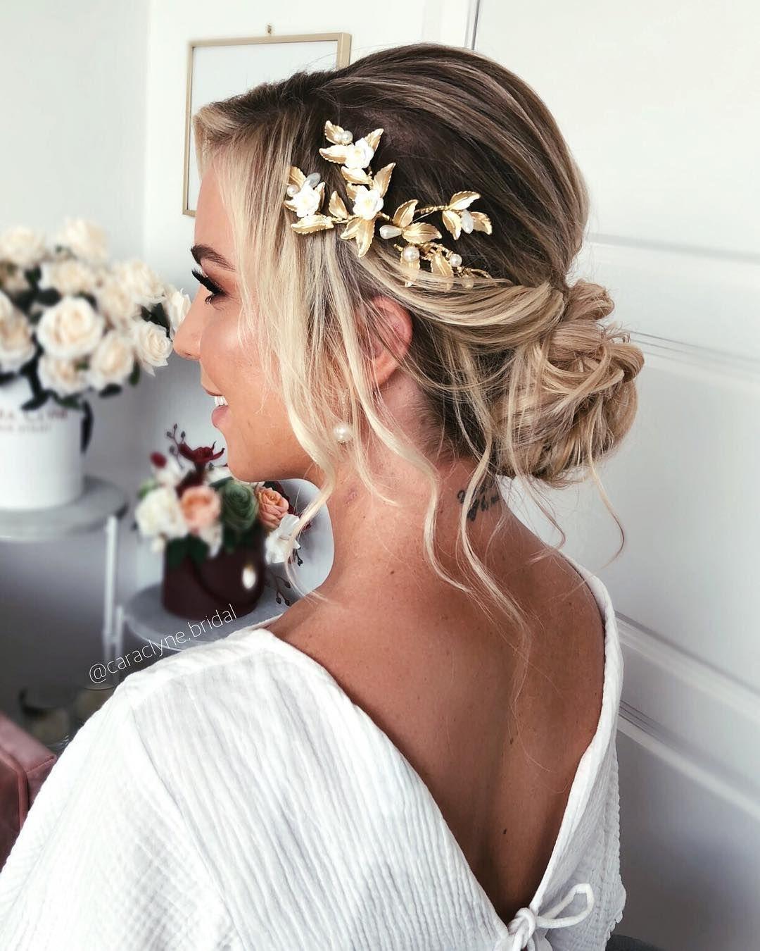 50 Most Beautiful Bridal Hair Style From Real Weddings Hairstyles Hairstyles For Medium Length Hair Hai Brautfrisur Hochzeitsfrisuren Lange Hochzeit Frisuren