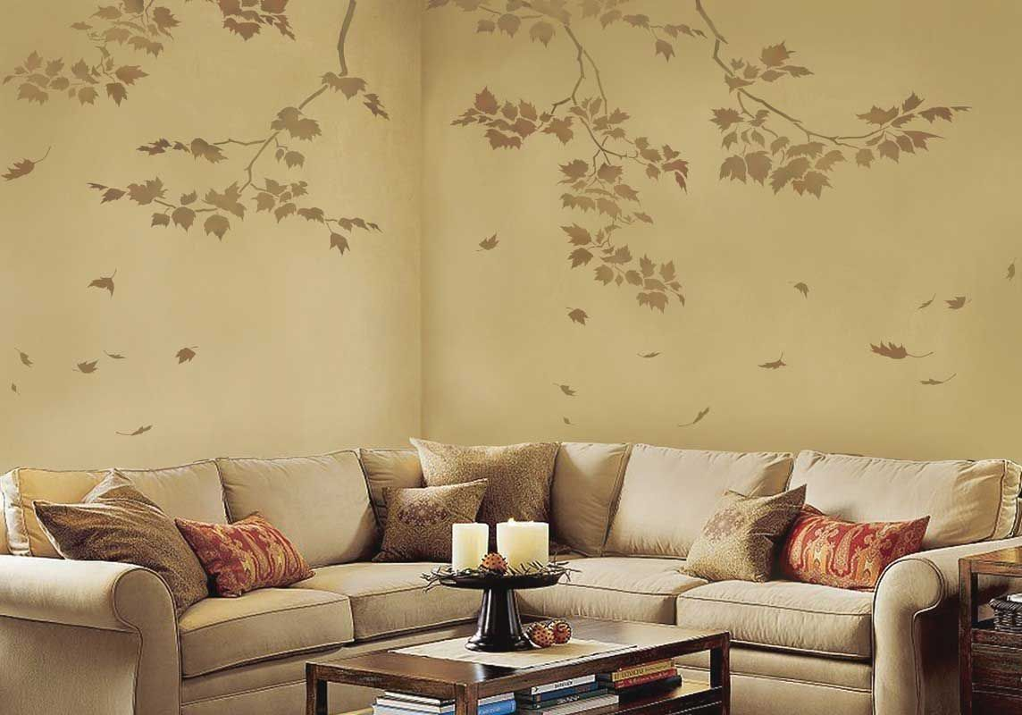 Wall Stencils For Living Room Idea | ⨊ White Walls Scare Me ...