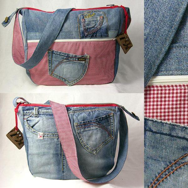 jeanstaschen aus alten jeans nähen | Retro // Jeanstaschen « Sowas ...