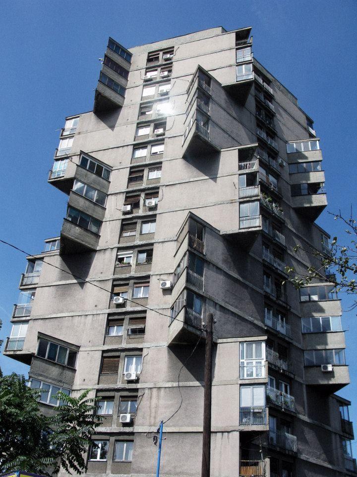 Residential Tower Toblerone Building Karaburma District