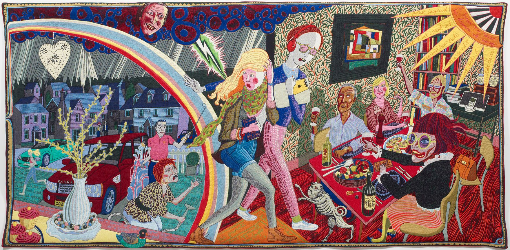 Expulsion From Number 8 Eden Close, Grayson Perry, 2012.  The Vanity of Small Differences exhibition at Birmingham Museum and Art Gallery was a great hit in 2014.