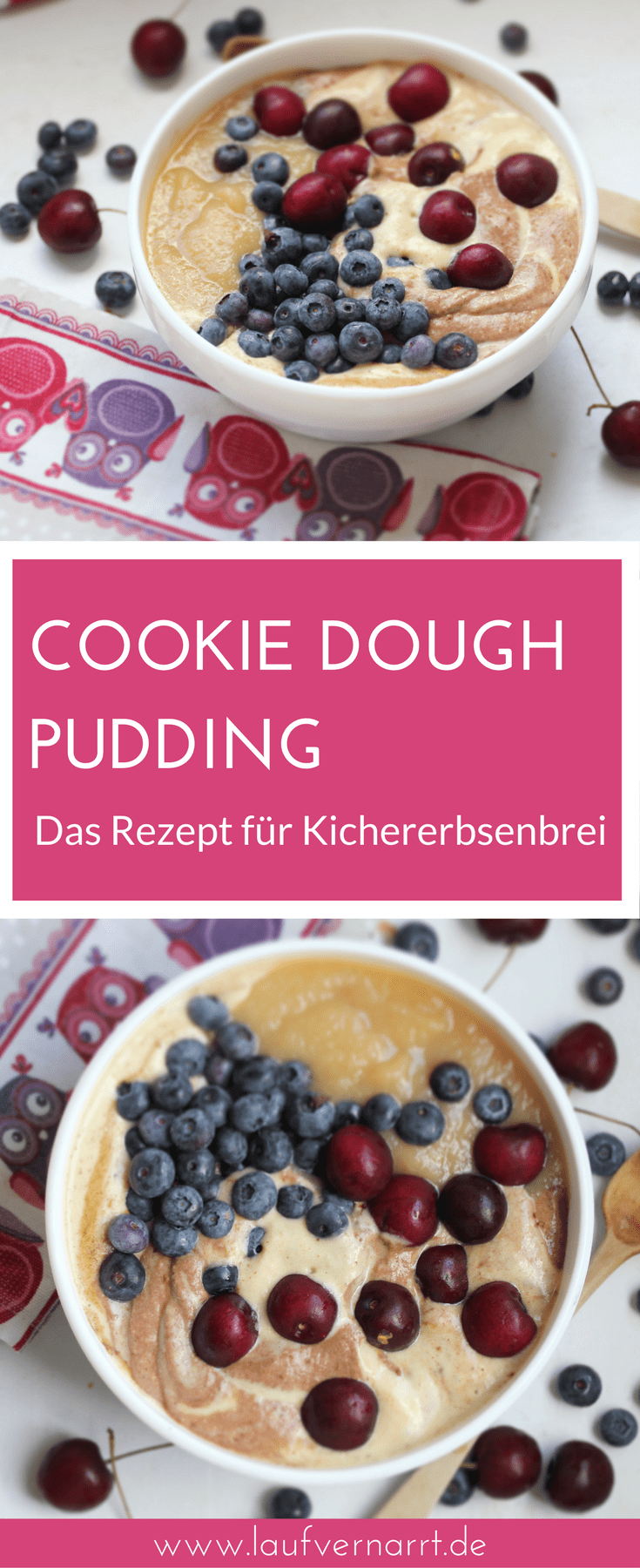Photo of Cookie dough pudding – sweet chickpea porridge – fond of running