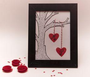 Un regalo y detalle precioso para regalar e incluso decorar el día de san Valentin. Fácil, económico y rápido de hacer.