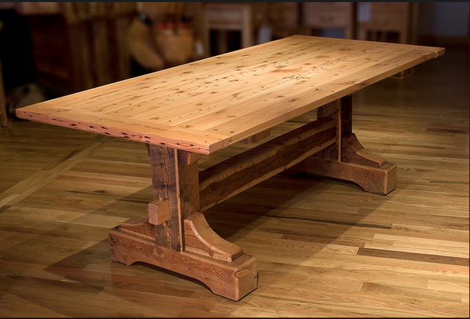 nice heavy wooden table Rustic kitchen tables, Rustic