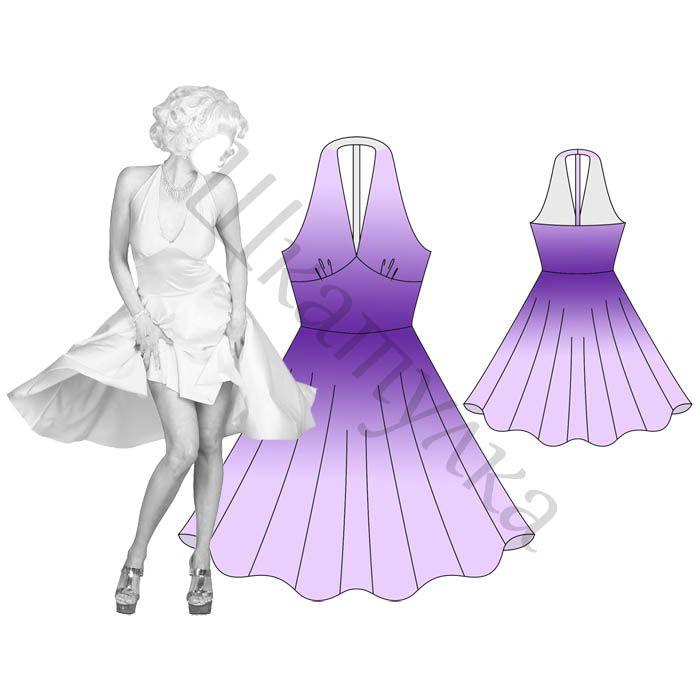 Vestido del patrón con la espalda abierta | patrones gratis de ropa ...