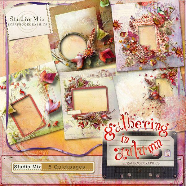 Scrapbookgraphics.com :: Collaborative Projects :: Studio Mix #76: Gathering In Autumn QP1
