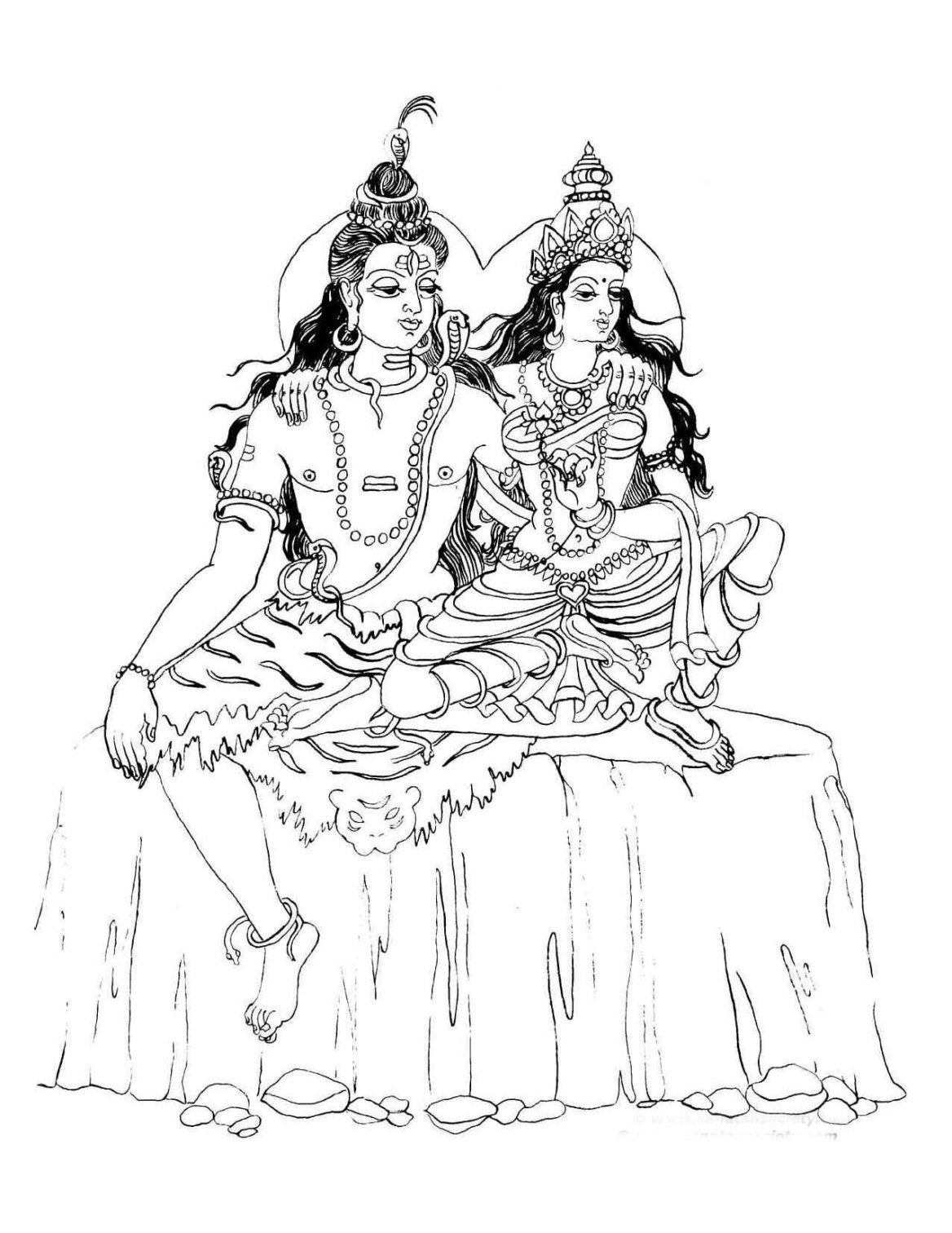 Shiva Parvati Picture Gallery Coloring Pages Coloring Pages For