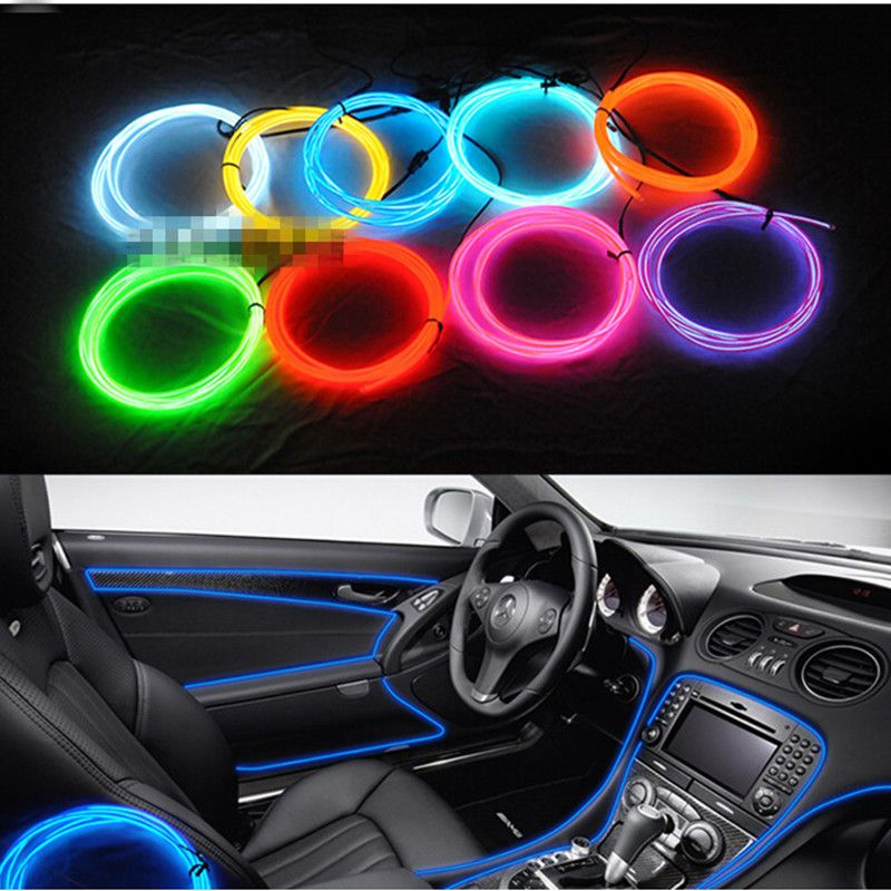 3m EL Decorative Strip Light Car Interior Lights Ambient