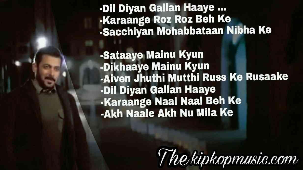 Dil Diyan Gallan Tiger Zinda Hai Listen Song With Lyrics Quotes